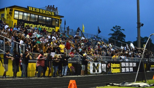 Manteo fans await the opening kickoff Monday night.